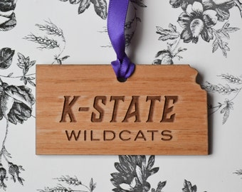 Kansas State Wildcats Engraved Ornament #1
