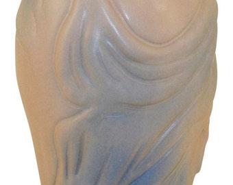 Van Briggle Pottery 1980s Lorelei Rose and Blue Vase