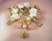 POMERANIAN -ap5-HOLD for Stephanie - Free Shipping - Charm Bracelet- Jade for Wealth -Dog - Free Gift  -  Handmade by USA Artisan - Last One