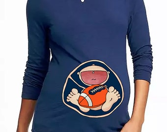 Auburn Tigers Baby in Belly. DIY. Make Your Own. Apply To Any Shirt. Digital file. Instant Download.