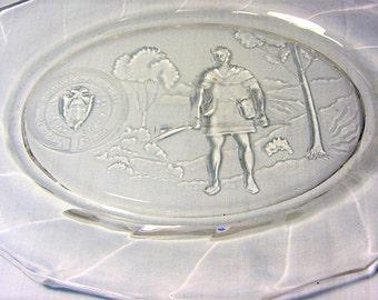 Sesquicentennial Platter Heisey Glass Newark Ohio 1952, Vintage Clear Glass Platter, Collectible 1952 Plate, Sesquientennial Platter