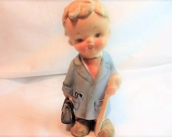 "Doctor Is In Vintage Figurine, Boy Figurine, Boy Statue, Doctor Gift Figurine, 7"" Tall Boy Figurine, Porcelain Boy Doctor Figurine, Vintage"