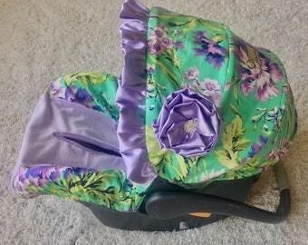 Lavender Floral Car Seat Cover, Floral Baby Car Seat Cover, Lavender Car Seat Cover, Infant Car Seat Covers, Purple Car Seat Cover