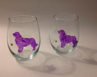 Dog Lovers Stemless Wine Glasses