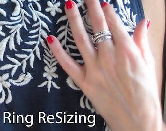 RING RESIZING /  for rings purchased through my store
