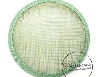 11cm Round Sinamay Fascinator Hat Base for Hat Making Millinery - Sage Green