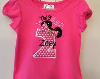 Minnie Mouse birthday shirt, girls birthday shirt Micky Mouse birthday shirt, boys birthday shirt without bow.