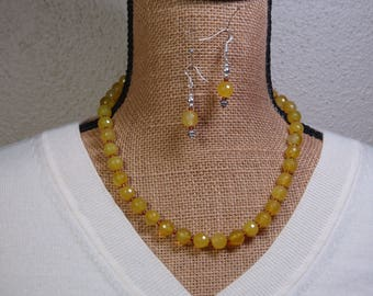 Rare LEMON TOPAZ AAA Gemstone Quality.925 Sterling Silver  Necklace And Earrings