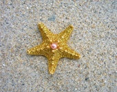 Mermaid Accessories,Starfish Hair Clip,Beach Birthday,Mermaid Birthday,Glittered Starfish,Gold Hair Accessories,Starfish Wedding,Beach Hair,