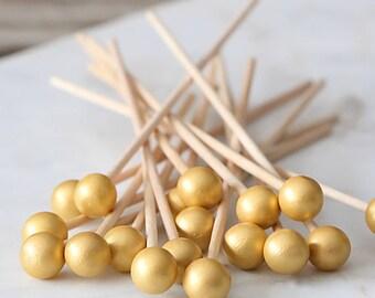 Glamorous Gold Lollipop Sticks, Gold Cake Pops Sticks, Boho Cake Pops, Wedding Cake Pop Sticks, Rock Candy Sticks, Gold Appetizer Picks