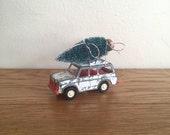Toy Truck Hauling Bottle Brush Tree