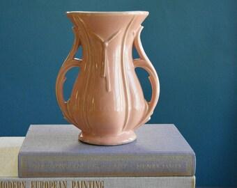 Vintage Large Pink McCoy Vase