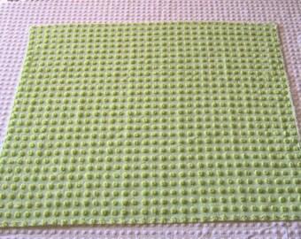 "Lime Squeeze Green Morgan Jones Pops  Vintage Chenille Bedspread Fabric 22"" x 20"""