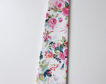 Little and Big Guy NECKTIE Tie - Spring Easter - Bright Floral - (Newborn-Adult) - Baby Boy Toddler Teen Man