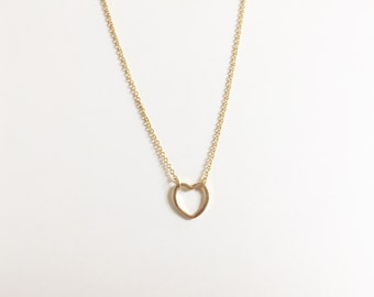 Large Heart Outline Necklace