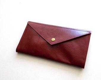 SALE Red Envelope  wallet , leather  women wallet , women purse