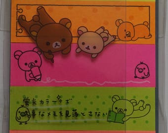 San-X Rilakkuma Sticky Bookmark Tabs - A - MW03801