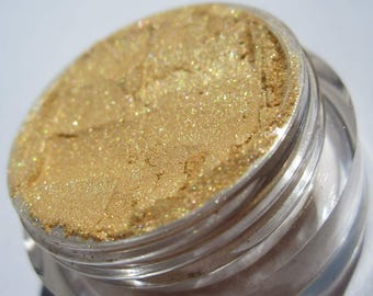 Silky Bright Shiny Gold Yellow Eye Shadow| Cruelty-Free|Shimmer Gold Vegan Mineral Eye Shadow - 24 Bright
