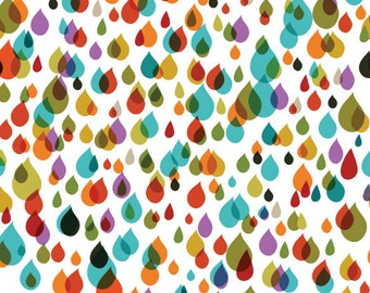 color drops Voile Fabric