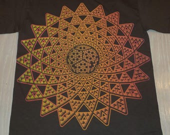 T-Shirt - Infinite Possibilities (Red/Yellow Fade on Brown)