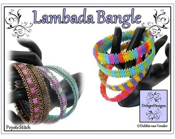 Beading Pattern, Tutorial, Bangle - LAMBADA