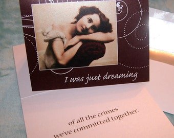 I was just dreaming.......VILE VIOLET Greeting Card