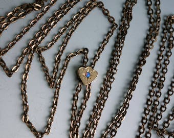 Victorian Gold FIlled Watch Chain Opal