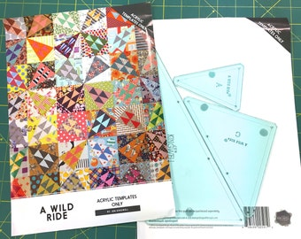 A Wild Ride Acrylic Template Set by Jen Kingwell