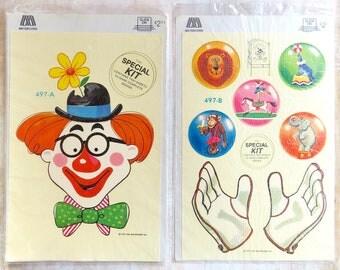 Circus Clown Juggling Decals Meyercord Kit Two Sheets Original Packaging 1979