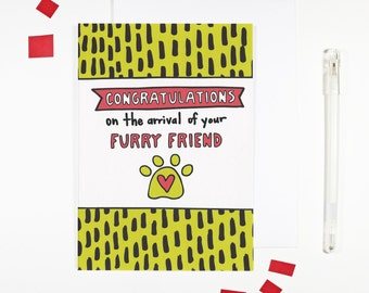 Congratulations New Pet Card Furry Friend