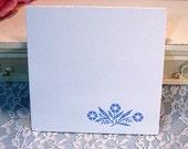 Vintage Corning Ware Blue Cornflower, Pyroceram Trivet or Potholder, 1950s to 1970s Mid Century Kitchen, Pyroceram Glass Cookeware
