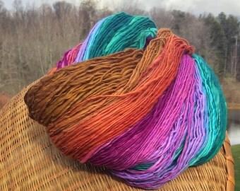 235 yards hand spun merino yarn, DK weight - 3.15 ounces/ 89 grams