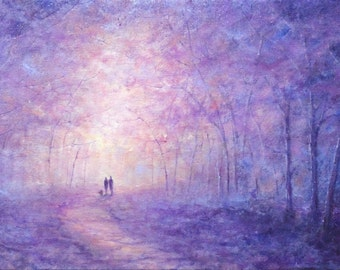 Winter's Enchantment original oil on canvas painting