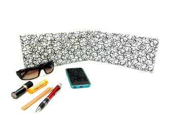 Purse organizer, 5 pockets, organize, handbag insert, black and white, organize, bag insert organizer, tote insert, handbag organizer