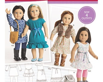 American Girl Doll Clothes Pattern, 18 inch Doll Clothes Pattern, AG Doll Clothes Pattern, Simplicity Sewing Pattern 8282