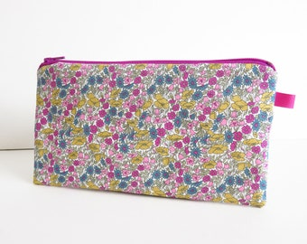 Liberty Lawn 'Petal And Bud X' Zippered Pencil Case