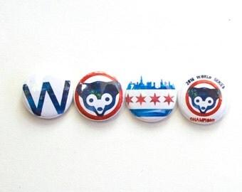 Cubs World Series Magnet Set
