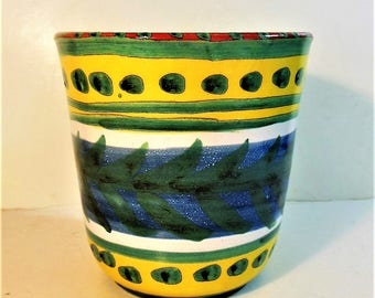 Vintage Desimone Colorful Pottery, Flower Pot, Deck, Patio, Indoor