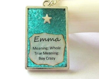 Emma Name and Meaning Necklace - Personalized