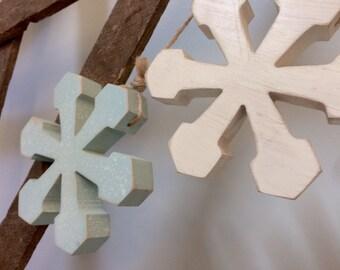 Snowflakes Wooden Door Hanger