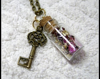 Muse In A Bottle - Glass Bottle Necklace - Glass Pendant - My Muse - Glass Bottle Pendant - GB-28