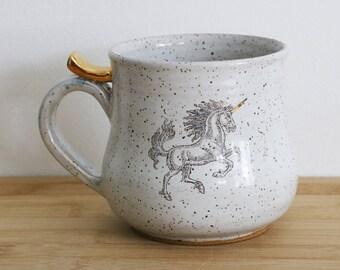 Unicorn Mug with 22k gold (MADE TO ORDER)