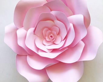 DIY Paper flowers for photo backdrops or home decor, Paper flower template create your own paper flowers for parties, events or home decor