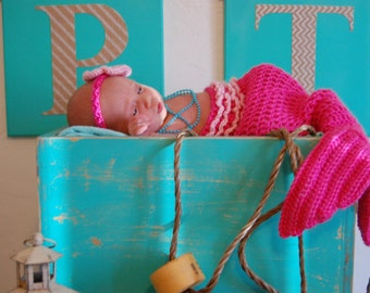 Baby Mermaid Outfit, Mermaid Outfit For Newborn Photos, Mermaid Themed Baby Shower, Newborn Mermaid Costume, Mermaid Infant Outfit