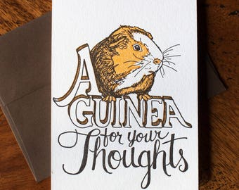 Guinea for your Thoughts - Card