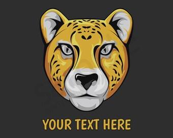 Cheetah Head Custom T-Shirt - Men Women Youth Long Sleeve Personalized Tee