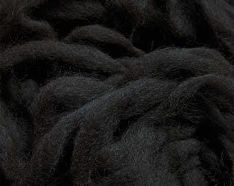 Alpaca Roving - Black - 1 lb.