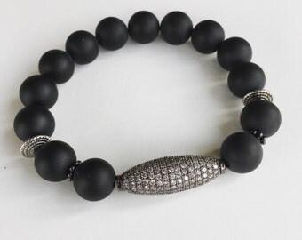 Pave Onyx Bracelet