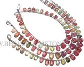Multi Sapphire Faceted Pear (Quality A) / 5x7 to 6x8 mm / 18 cm / SAPPHIRE(-004