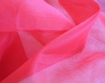 "Bright Red Organdy - Vintage Fabric - 33"" x 43"" wide"